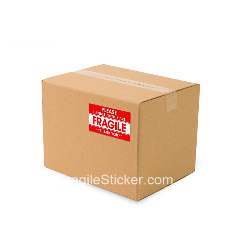 英文易碎品标签Fragile Sticker国际跨境物流包裹警示贴纸