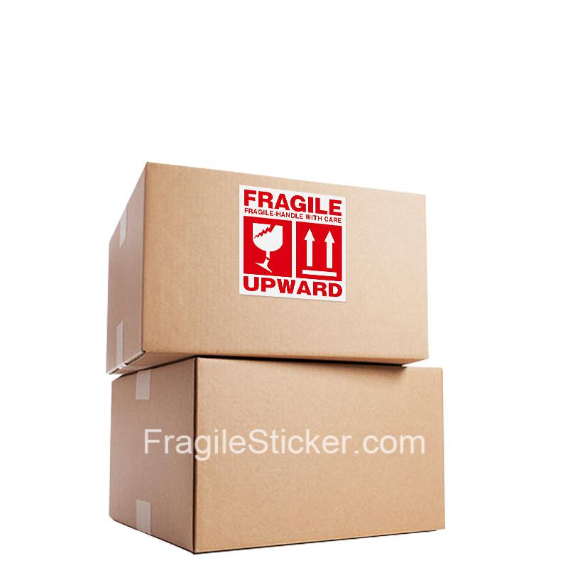 英文易碎品标签国际跨境快递物流专用 10x10cm