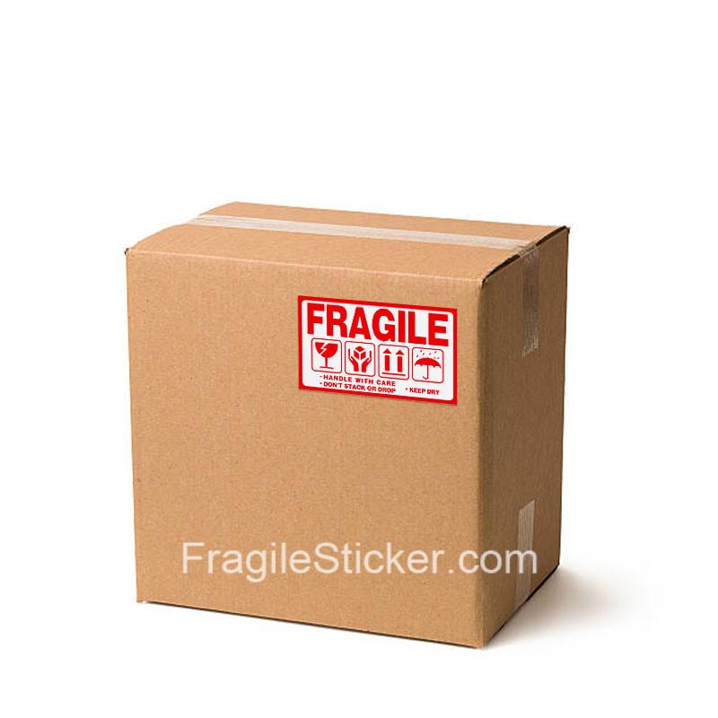 易碎品英文不干胶标签Fragile Sticker 9x5cm