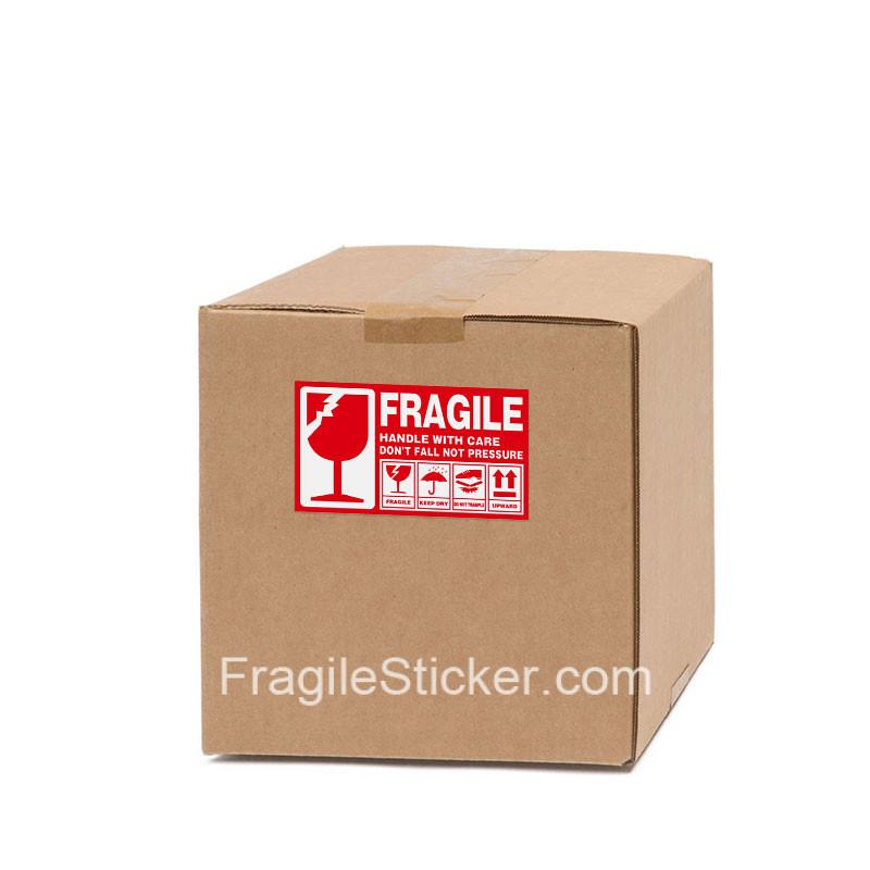 英文易碎品标签Fragile Stickers跨境国际物流货运贴纸