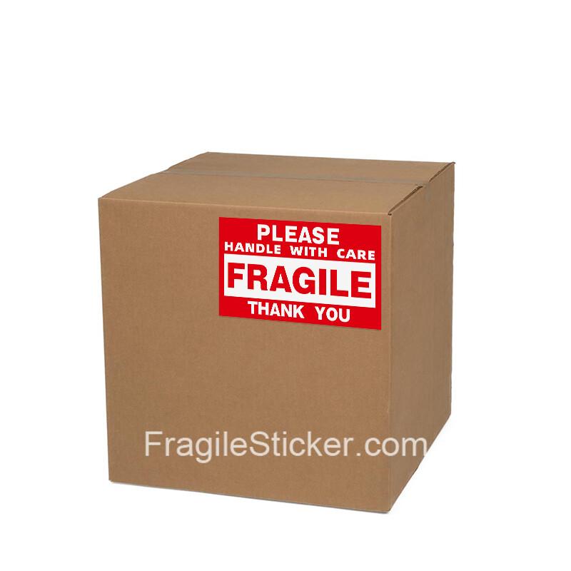 跨境包裹易碎FRAGILE标识 外贸海运易碎品HANDLE WITH CARE贴纸